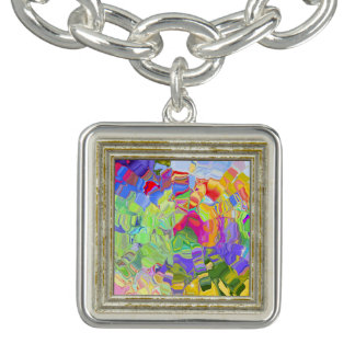 Dreamy Colorful Abstract Bracelet