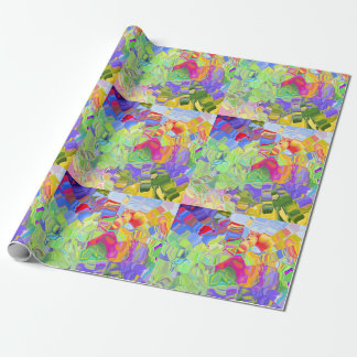 Dreamy Colorful Abstract Wrapping Paper
