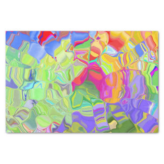 Dreamy Colourful Abstract Tissue Paper