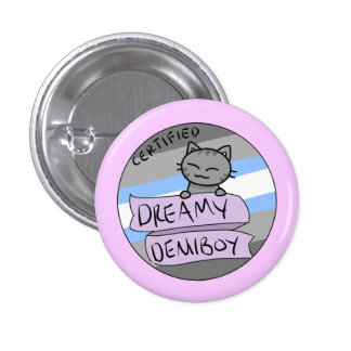 Dreamy Demiboy 1 Inch Round Button