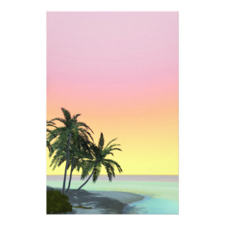 dreamy desert Island Stationery