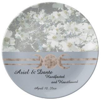 Dreamy Dogwood Triple Moon Handfasting Plate