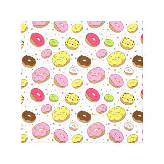Dreamy Donuts Stretched Canvas Print