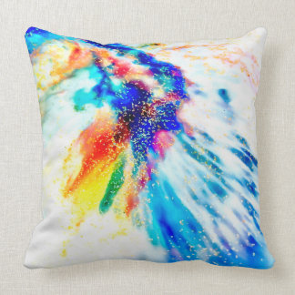 Dreamy Feathers Throw Pillow