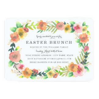 Dreamy Floral Easter Brunch Card