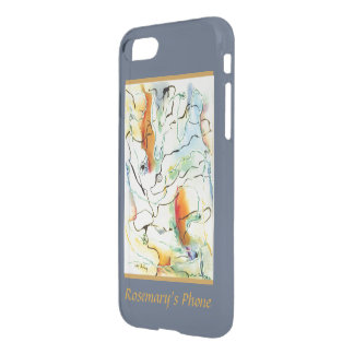 Dreamy Gold and Blue Abstract with Your Name iPhone 8/7 Case