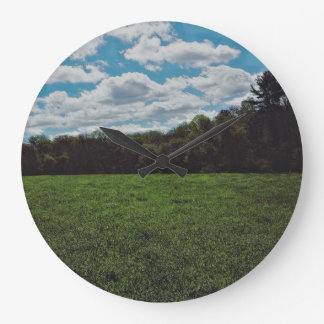 Dreamy Green Fields Wall Clock