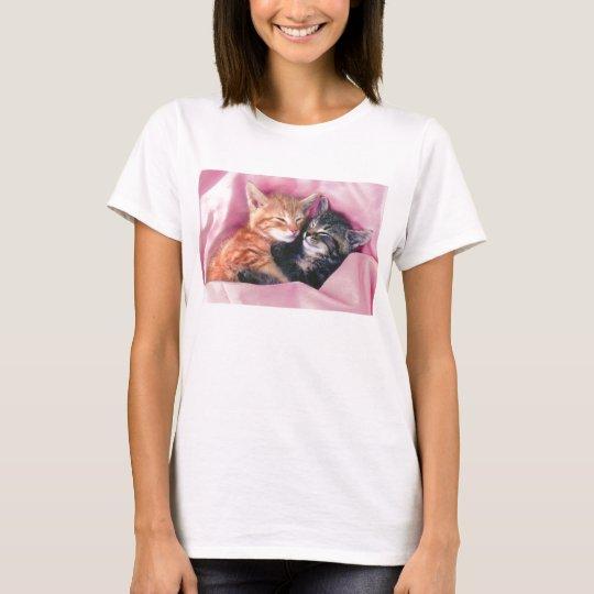 dreamy kittens women's baby doll shirt