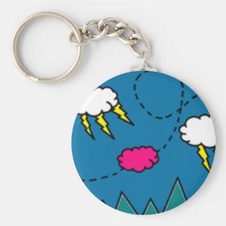 Dreamy Little Pink Basic Round Button Keychain