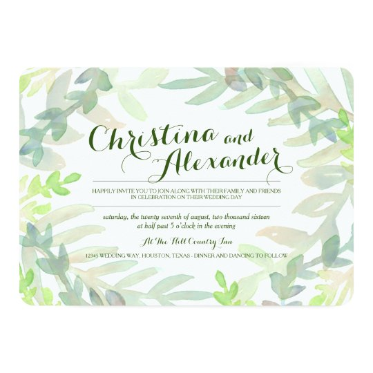 Dreamy Meadow Wedding Card