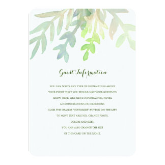 Dreamy Meadow Wedding Insert Card