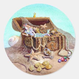 DREAMY MERMAID by SHARON SHARPE Classic Round Sticker