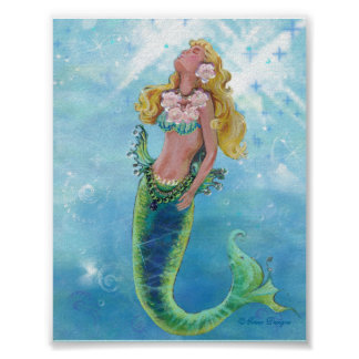 Dreamy Mermaid Poster