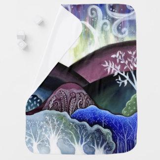 Dreamy Moonlit Landscape Baby Blankets