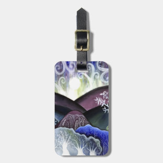 Dreamy Moonlit Landscape Luggage Tag