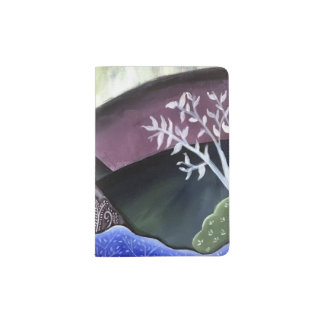 Dreamy Moonlit Landscape Passport Holder