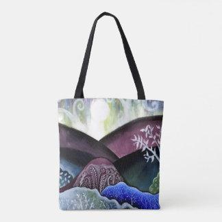 Dreamy Moonlit Landscape Tote Bag