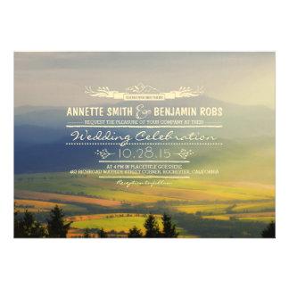 Dreamy Mountains Wedding Invitations