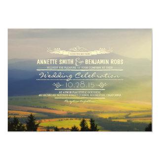 "Dreamy Mountains Wedding Invitations 5"" X 7"" Invitation Card"