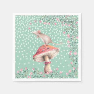Dreamy mouse- Watercolor Illustration Disposable Napkins