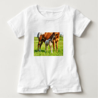 Dreamy, new horse foal with Mama Baby Romper