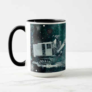 Dreamy Northwest Shovel Heavy Equipment Winter Mug