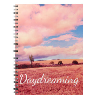 Dreamy Photo Notebook with beautiful pink meadow