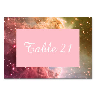 Dreamy Pink Orange Ombre Beautiful Nebula Numbered Table Cards