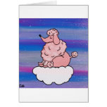Dreamy Pink Poodle Greeting Cards