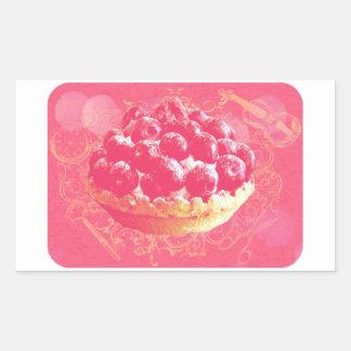 Dreamy Pink Romantic Blueberry Tart with Swirls Sticker