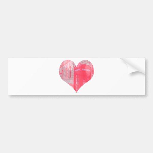 Dreamy Pink Telephone Box Bumper Stickers