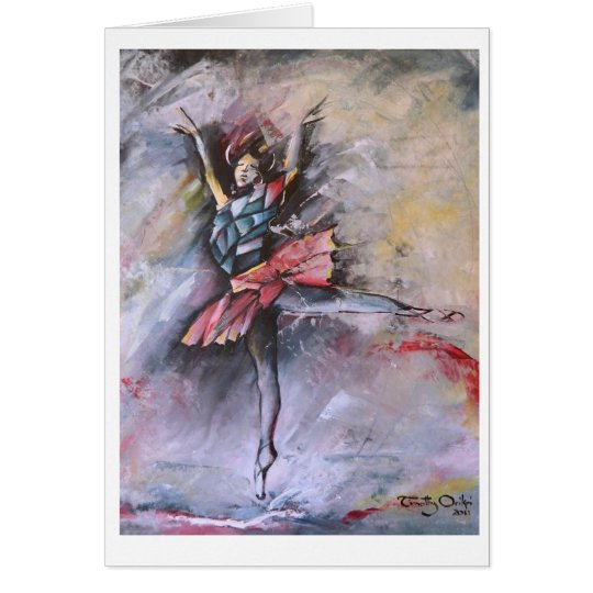 Dreamy Pirouette Greeting card by Timothy Orikri