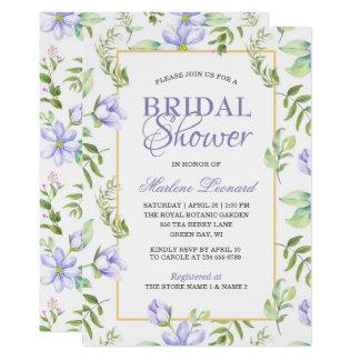 Dreamy Purple Garden Romantic Bridal Shower Card