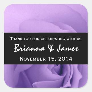 Dreamy Purple Rose Premium Wedding Collection Square Sticker