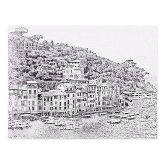 Dreamy Romantic Portofino, Italy Postcard
