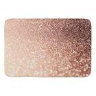 Dreamy Rose Gold Glitter - Peach Glittereffect Bath Mat