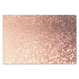 Dreamy Rose Gold Glitter - Peach Glittereffect Tissue Paper