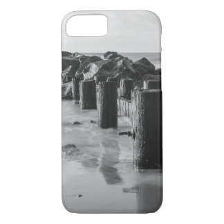Dreamy Seawall Grayscale iPhone 7 Case