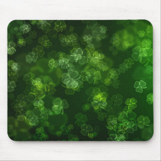 Dreamy Shamrocks Abstract Mouse Pad