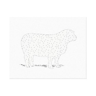 Dreamy Sheep Stretched Canvas Prints