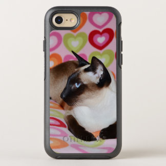 Dreamy Siamese Cat Hearts OtterBox Symmetry iPhone 8/7 Case