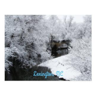 Dreamy Snow Horizontal Postcard