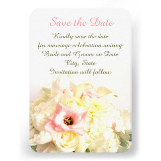 Dreamy Sweet Bouquet Save the date Personalized Invite