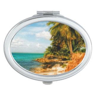 Dreamy Tropical Beach Makeup Mirror