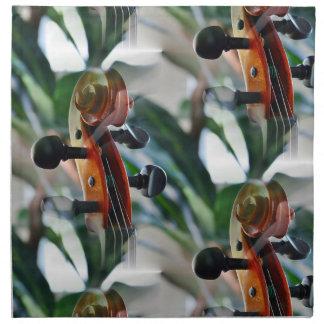 Dreamy Violin Scroll Cloth Napkins