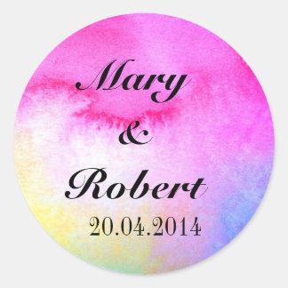 Dreamy Watercolor Round Sticker