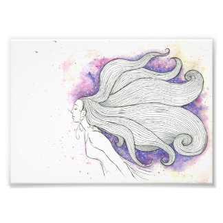 Dreamy watercolour and ink illustration photo art