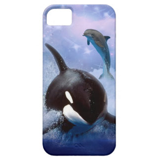 Dreamy Whale and dolphins play iPhone 5 Cover