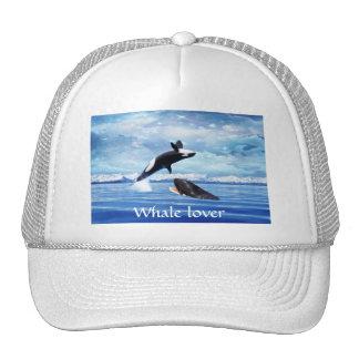 Dreamy Whales enjoying the ocean Trucker Hat