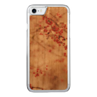 Dreamy Winter Garden Red Berries Artisan Carved iPhone 8/7 Case